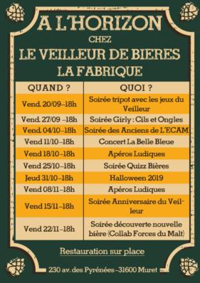programme vendredi brasserie